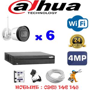 Lắp Đặt Trọn Bộ 6 Camera Wifi Dahua 4.0Mp (Dah-464400)-DAH-464400