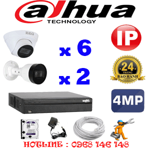 Lắp Đặt Trọn Bộ 8 Camera Ip Dahua 4.0Mp (Dah-4647248)-DAH-4647248