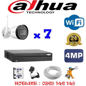 Lắp Đặt Trọn Bộ 7 Camera Wifi Dahua 4.0Mp (Dah-474400)-DAH-474400