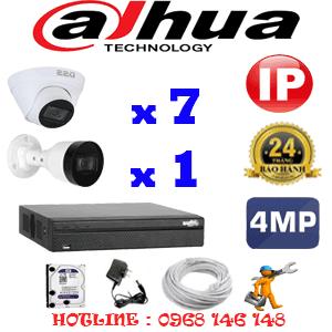 Lắp Đặt Trọn Bộ 8 Camera Ip Dahua 4.0Mp (Dah-4747148)-DAH-4747148