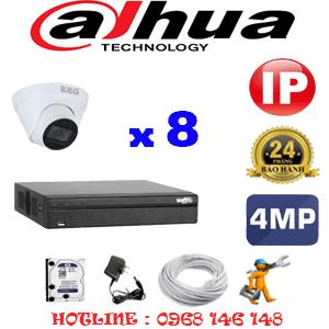 Lắp Đặt Trọn Bộ 8 Camera Ip Dahua 4.0Mp (Dah-484700)-DAH-484700