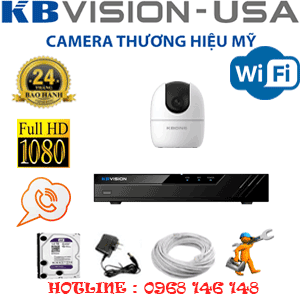 Lắp Đặt Trọn Bộ 1 Camera Wifi Kbvision 2.0Mp (Kb-212900)-KB-212900