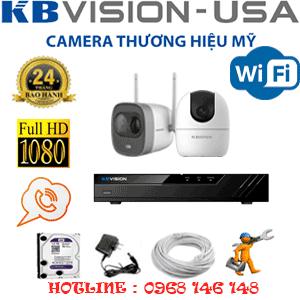 Lắp Đặt Trọn Bộ 2 Camera Wifi Kbvision 2.0Mp (Kb-2129130)-KB-2129130