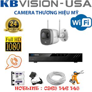 Lắp Đặt Trọn Bộ 1 Camera Wifi Kbvision 2.0Mp (Kb-213000)-KB-213000