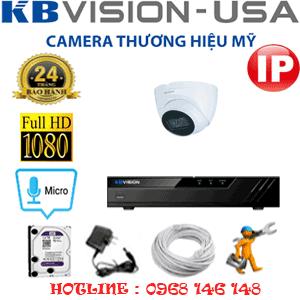 Lắp Đặt Trọn Bộ 1 Camera Ip Kbvision 2.0Mp (Kb-213300)-KB-213300