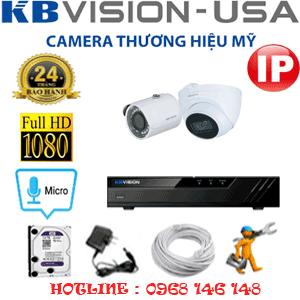 Lắp Đặt Trọn Bộ 2 Camera Ip Kbvision 2.0Mp (Kb-2133134)-KB-2133134