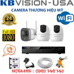 Lắp Đặt Trọn Bộ 3 Camera Wifi Kbvision 2.0Mp (Kb-2229130)-KB-2229130