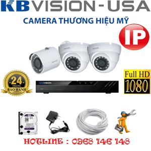 Lắp Đặt Trọn Bộ 3 Camera Ip Kbvision 2.0Mp (Kb-2231132)-KB-2231132
