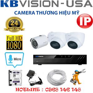 Lắp Đặt Trọn Bộ 3 Camera Ip Kbvision 2.0Mp (Kb-2233134)-KB-2233134