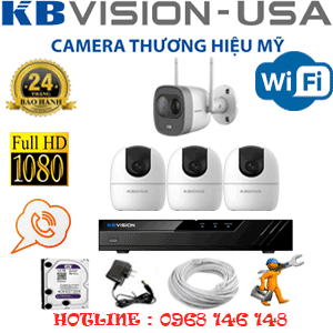 Lắp Đặt Trọn Bộ 4 Camera Wifi Kbvision 2.0Mp (Kb-2329130)-KB-2329130