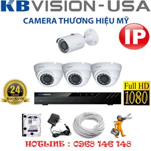 Lắp Đặt Trọn Bộ 4 Camera Ip Kbvision 2.0Mp (Kb-2331132)-KB-2331132