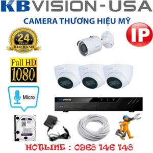 Lắp Đặt Trọn Bộ 4 Camera Ip Kbvision 2.0Mp (Kb-2333134)-KB-2333134