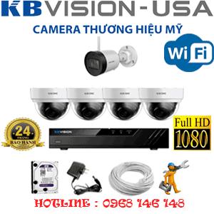 Lắp Đặt Trọn Bộ 5 Camera Wifi Kbvision 2.0Mp (Kb-2425126)-KB-2425126