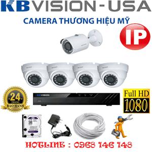 Lắp Đặt Trọn Bộ 5 Camera Ip Kbvision 2.0Mp (Kb-2431132)-KB-2431132