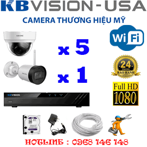Lắp Đặt Trọn Bộ 6 Camera Wifi Kbvision 2.0Mp (Kb-2525126)-KB-2525126