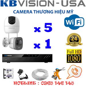 Lắp Đặt Trọn Bộ 6 Camera Wifi Kbvision 2.0Mp (Kb-2529130)-KB-2529130