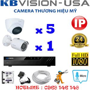 Lắp Đặt Trọn Bộ 6 Camera Ip Kbvision 2.0Mp (Kb-2533134)-KB-2533134
