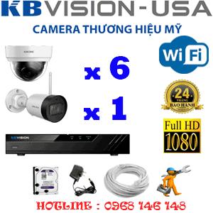 Lắp Đặt Trọn Bộ 7 Camera Wifi Kbvision 2.0Mp (Kb-2625126)-KB-2625126