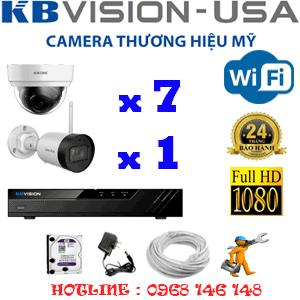 Lắp Đặt Trọn Bộ 8 Camera Wifi Kbvision 2.0Mp (Kb-2725126)-KB-2725126