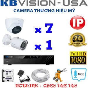Lắp Đặt Trọn Bộ 8 Camera Ip Kbvision 2.0Mp (Kb-2733134)-KB-2733134