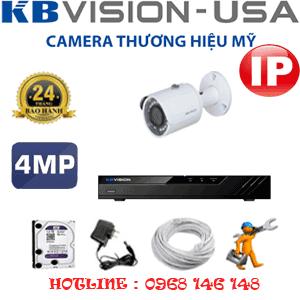 Lắp Đặt Trọn Bộ 1 Camera Ip Kbvision 4.0Mp (Kb-413600)-KB-413600
