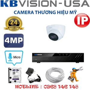 Lắp Đặt Trọn Bộ 1 Camera Ip Kbvision 4.0Mp (Kb-413700)-KB-413700