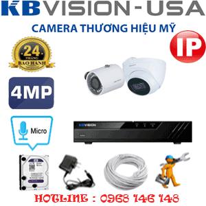 Lắp Đặt Trọn Bộ 2 Camera Ip Kbvision 4.0Mp (Kb-4137138)-KB-4137138