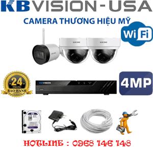 Lắp Đặt Trọn Bộ 3 Camera Wifi Kbvision 4.0Mp (Kb-4227128)-KB-4227128