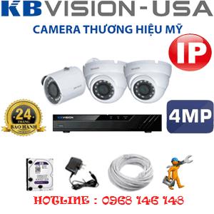 Lắp Đặt Trọn Bộ 3 Camera Ip Kbvision 4.0Mp (Kb-4235136)-KB-4235136