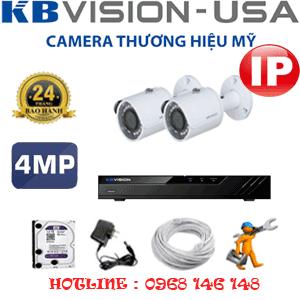 Lắp Đặt Trọn Bộ 2 Camera Ip Kbvision 4.0Mp (Kb-423600)-KB-423600