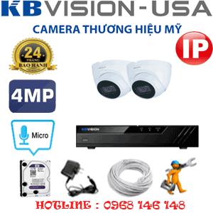 Lắp Đặt Trọn Bộ 2 Camera Ip Kbvision 4.0Mp (Kb-423700)-KB-423700