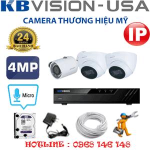 Lắp Đặt Trọn Bộ 3 Camera Ip Kbvision 4.0Mp (Kb-4237138)-KB-4237138