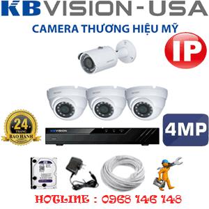 Lắp Đặt Trọn Bộ 4 Camera Ip Kbvision 4.0Mp (Kb-4335136)-KB-4335136