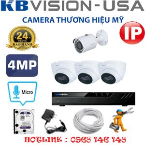 Lắp Đặt Trọn Bộ 4 Camera Ip Kbvision 4.0Mp (Kb-4337138)-KB-4337138