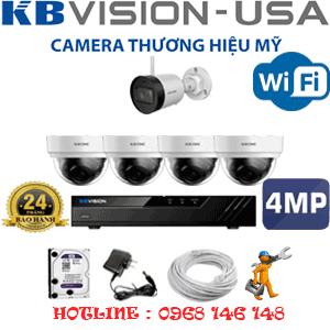 Lắp Đặt Trọn Bộ 5 Camera Wifi Kbvision 4.0Mp (Kb-4427128)-KB-4427128