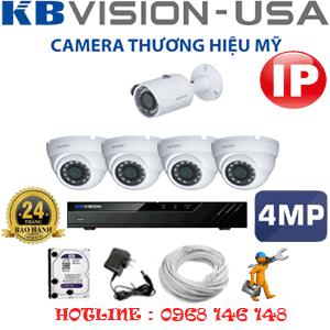 Lắp Đặt Trọn Bộ 5 Camera Ip Kbvision 4.0Mp (Kb-4435136)-KB-4435136