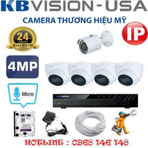 Lắp Đặt Trọn Bộ 5 Camera Ip Kbvision 4.0Mp (Kb-4437138)-KB-4437138