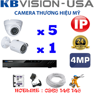 Lắp Đặt Trọn Bộ 6 Camera Ip Kbvision 4.0Mp (Kb-4535136)-KB-4535136
