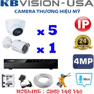 Lắp Đặt Trọn Bộ 6 Camera Ip Kbvision 4.0Mp (Kb-4537138)-KB-4537138