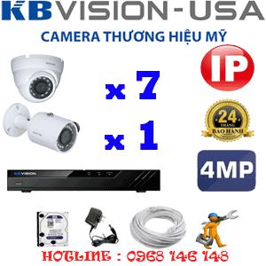 Lắp Đặt Trọn Bộ 8 Camera Ip Kbvision 4.0Mp (Kb-4735136)-KB-4735136