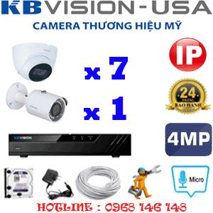 Lắp Đặt Trọn Bộ 8 Camera Ip Kbvision 4.0Mp (Kb-4737138)-KB-4737138
