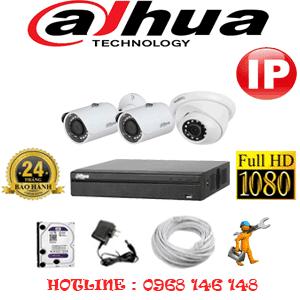 Lắp Đặt Trọn Bộ 3 Camera Ip Dahua 2.0Mp (Dah-2149250)-DAH-2149250