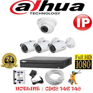 Lắp Đặt Trọn Bộ 4 Camera Ip Dahua 2.0Mp (Dah-2149350)-DAH-2149350