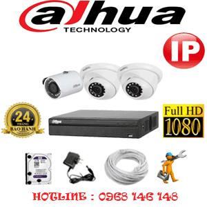 Lắp Đặt Trọn Bộ 3 Camera Ip Dahua 2.0Mp (Dah-2249150)-DAH-2249150
