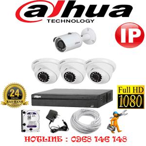 Lắp Đặt Trọn Bộ 4 Camera Ip Dahua 2.0Mp (Dah-2349150)-DAH-2349150