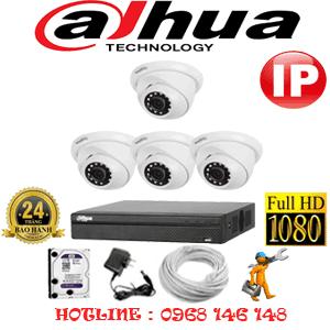 Lắp Đặt Trọn Bộ 4 Camera Ip Dahua 2.0Mp (Dah-244900)-DAH-244900